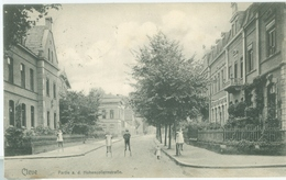 Cleve 1910; Partie A. D. Hohenzollernstrasse - Gelaufen. (Jos Labs Jr - Cleve) - Kleve