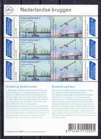 Nederland 2018 Nvph Nr 3631 - 3632, Mi Nr 3698 - 3699, Nederlandse Bruggen, Europa, Dedemsvaart En Kwakelbrug, Sheet - Period 2013-... (Willem-Alexander)