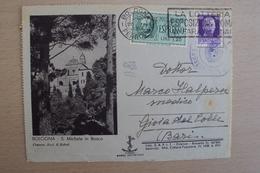 STORIA POSTALE ITALIA ITALY PRIGIONIERO BUSTA ILLUSTRATA DA BOLOGNA PER CAMPO CONCENTRAMENTO GIOIA DEL COLLE BELLA - 1900-44 Victor Emmanuel III