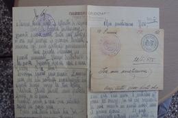 STORIA POSTALE ITALIA ITALY PRIGIONIERO POLITICO DUE INTERNI DI LETTERA CON CENSURA CARCERI GIUDIZIARIE DI TRIESTE - Marcofilía