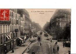 E. V. 708. PARIS (XIX°). - Rue De Flandre  (l'entrée). Très Animé. A Circulé En 1910. Voir Scan. - Paris (19)