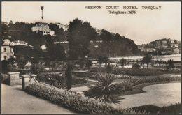 Vernon Court Hotel, Torquay, Devon, C.1930s - Charles Knight & Co RP Postcard - Torquay
