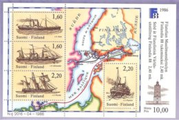 Finlande - 1986 Yv BF 2  Anciens Bateaux-Routes Postales-Old Postal Ships Routes Of The Early Period. ** Mnh - Finlande