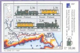Finlande -1987 Yv BF 3  Anciennes Locomotives-Routes Postales-Old Locomotives And Mail Vans . ** Mnh - Finlande