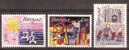 Feroes-1986 Yv 130/32  Amnesty International  ** Mnh - Organizations