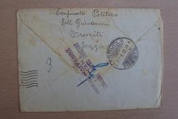 STORIA POSTALE ITALIA ITALY LETTERA DA SAN NICOLA DI TREMITI  INTERNATO CONFINATO POLITICO A TREMITI - 1900-44 Victor Emmanuel III