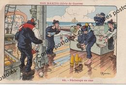 CPA - Militaria > Humoristiques - Nos Marins - Série De Guerre - Périscope En Vue - H.Gervese - Humour