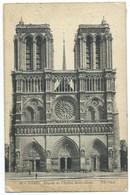CARTE POSTALE / FACADE DE L'EGLISE NOTRE DAME 1913 - Notre Dame De Paris