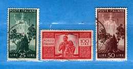 ITALIA ° -1945 -  DEMOCRATICA -  Unif. - 562- 564- 565. Usati.  Vedi Descrizione - 1946-60: Usati