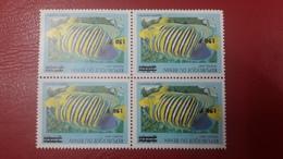 BENIN ? - MICHEL Mi ? FISH FISHES POISSONS POISSON BLOCK  - OVERPRINT OVERPRINTED SURCHARGE SURCHARGED - MNH - Benin - Dahomey (1960-...)