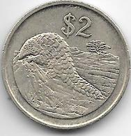 Zimbabwe 2 Dollars  1997  Km 12  Xf - Zimbabwe