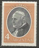 Argentina - 1964 Pope John MNH *   Sc 763 - Unused Stamps