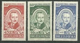 POLAND MNH ** 641-643 Anniversaire Du Président Bierut - 1944-.... République