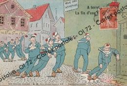 CPA - Militaria > Humoristiques - Nos Braves Marins - A Terre La Fin D'une Bordée - Vomi - Humor