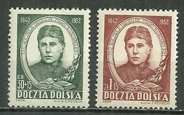POLAND MNH ** 645-646 Naissance De Maria Konopnicka, Poète Poésie écrivain Littérature - Unused Stamps