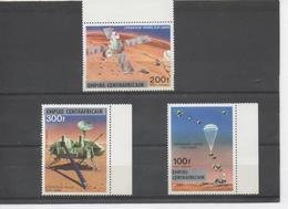"""CENTRAFRIQUE -Espace - Opération Viking Sur Mars - PA N° 153 à 155 Surchargé """"EMPIRE CENTRAFRICAIN"""" - Central African Republic"""