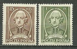 POLAND MNH ** 648-649 ANNIVERSAIRE DE LA MORT DU PERE HUGO KOLLATAJ. RELIGION - 1944-.... République