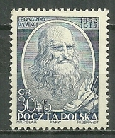 POLAND MNH ** 650 Léonard De Vinci - Unused Stamps