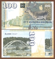 ALAND ISLANDS 100 Kronor 2018 UNC. Private Essay. Specimen. - Billets