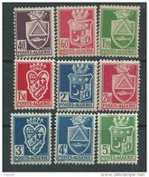 Algérie N° 175 / 83 XX Armoiries De Villes.  Les 9 Valeurs Sans Charnière, TB - Algerien (1924-1962)