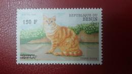 BENIN ? - MICHEL Mi ? - CATS CAT CHATS TIGRE ROUX 1998 - OVERPRINT OVERPRINTED SURCHARGE SURCHARGED - MNH - Benin - Dahomey (1960-...)