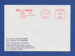 BRD AFS - BAD KÖNIG, Heilbad Im Naturpark Auf Brief Carl Weyprecht 1988 - Polarforscher & Promis