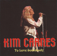 """KIM CARNES – """"To Love Somebody"""" – CD – JHD 018 –TRING International PLC – Made In EEC - Rock"""