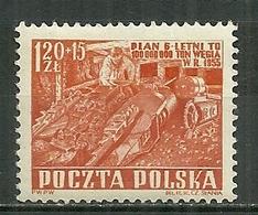POLAND MNH ** 666 Industrie Minière Mine Charbon Houille - Unused Stamps