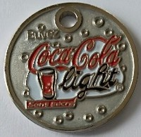Jeton De Caddie - Coca Cola Light - Sans Sucre - En Métal - - Trolley Token/Shopping Trolley Chip
