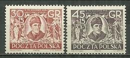 POLAND MNH ** 667-668 ANNIVERSAIRE DU PARTI OUVRIER POLONAIS. EFFIGIE DE L WARYNSKI - Unused Stamps