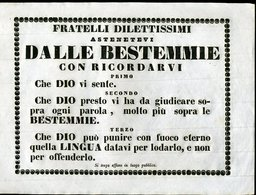 54 1800 CIRCA ,  MANIFESTO CM 20X27 ANTIBESTEMMIA - Posters
