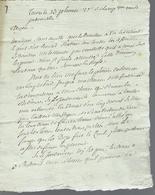 1794 REVOLUTION LETTRE COMPLETE ET SIGNEE Tours Pour Veretz ENTRETIEN DES TERRES VIGNES JARDINS B.E.VOIR SCANS - Manuscrits