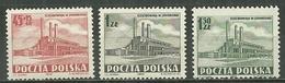 POLAND MNH ** 669-671 Centrale D'énergie De Jaworzno - Unused Stamps