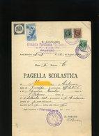 55 PALERMO 1936 PAGELLA MARCHE CON FASCIO 1 PNF GIL EDUCAZIONE FISICA XVII - Diplomi E Pagelle