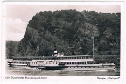 D-8725   KÖLN-DÜSSELDORFER RHEINDAMPFSCHIFFAHRT : Dampfer Rheingold - Bateaux