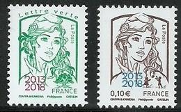 FRANCE - MARIANNE DE CIAPPA SURCHARGE 2013 2018 - PARIS PHILEX - NEUFS ** 5234 5235 - 2013-... Marianne Of Ciappa-Kawena