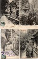 LES GRANDS GOULETS - 4 CPA - Route - Gorges - Tunnels - La Roche Fendue  (2462 ASO) - Les Grands Goulets
