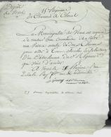 1794 REVOLUTION LETTRE COMPLETE ET SIGNEE Sign. Maçonnique REGIMENT DE CHASSEURS A CHEVAL REQUISITION V.SCANS - Manuscrits