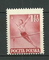 POLAND MNH ** 657 JEUNE FILLE SPORT - 1944-.... Republik