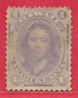Hawaï N°22 1c Violet 1864-71 O - Hawaii