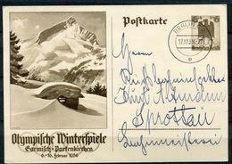 """German Empires,DR  1935 GS Olympische Spiele Mi.Nr.P257 Mit Tagesstempel """"Berlin C 2.""""1GS - Winter 1936: Garmisch-Partenkirchen"""
