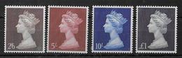 GB - YVERT N° 487/490 ** MNH - COTE = 23.50 EUR. - 1952-.... (Elizabeth II)