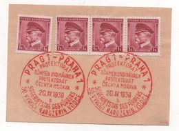 "Bohmen Und Mahren 1939, #1,  Prag/Praha ""Protektorat Bohmen Und Mahren/Cechy A Morava"" 20.IV.1939 - Interesting - Covers & Documents"