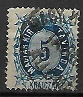 HONGRIE   -   Timbres - Télégraphe.   1874  .  Y&T N° 9 Oblitéré - Télégraphes