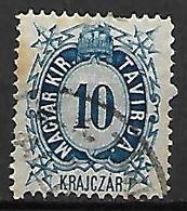 HONGRIE   -   Timbres - Télégraphe.   1874  .  Y&T N° 10 Oblitéré - Télégraphes