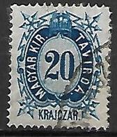 HONGRIE   -   Timbres - Télégraphe.   1874  .  Y&T N° 11 Oblitéré - Télégraphes