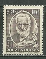 POLAND MNH ** 679 VICTOR HUGO Littérature écrivain Auteur - Neufs