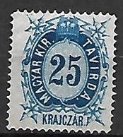 HONGRIE   -   Timbres - Télégraphe.   1874  .  Y&T N° 12 (*) - Télégraphes
