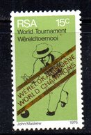 T1619 - SUD AFRICA SOUTH 1976 Yvert N. 400 Con Gomma Integra ** Bowling - Sud Africa (1961-...)
