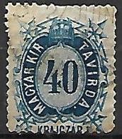 HONGRIE   -   Timbres - Télégraphe.   1874  .  Y&T N° 13 Oblitéré - Télégraphes